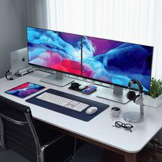 40 Workstation Setups That We Really Like Home Studio Setup, Home Office Setup, Home Office Space, Home Office Design, Computer Desk Setup, Gaming Room Setup, Pc Setup, Gaming Computer, Configuration Home Studio