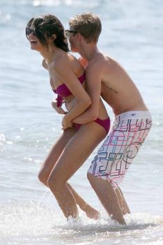 Justin Bieber and Selena Gomez in Hawaii. May 2011