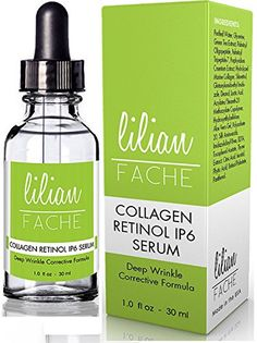 Fine Line and Wrinkle Repair Correction Collagen Retinol IP6 Serum From Lilian Fache Clinical Strength Anti Aging Serum  The Best Anti Wrinkle Serum  30ml *** BEST VALUE BUY on Amazon