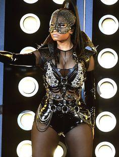 "Nicki Minaj performing ""No Frauds"" at the 2017 Billboard Music Awards"