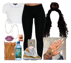 """✨✨✨"" by saucinonyou999 ❤ liked on Polyvore featuring Topshop, MCM and Lime Crime"