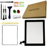 Zeetron Replacement Glass Screen Digitizer for Ipad 2 Black Pre Installed with Home Button Flex Premium Repair Kit - Do It Yourself (Tools+ Adhesive+ Cloth Included) A1395 A1396 A1397 - Zeetron Replacement Glass Screen Digitizer for Ipad 2 Black Pre Installed with Home Button Flex Premium Repair Kit – Do It Yourself (Tools+ Adhesive+ Cloth Included) A1395 A1396 A1397   Premium iPad 2 black digitizer glass replacement kit (Pre installed) Assembly Includes the iPad 2 fron