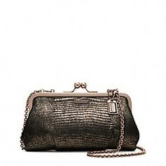 Gifts 200-400: Coach Madison Embossed Exotic Frame Clutch