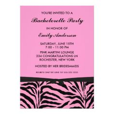Pink Zebra Bachelorette Party Invitations Yes I can say you are on right site we just collected best shopping store that haveDeals          Pink Zebra Bachelorette Party Invitations lowest price Fast Shipping and save your money Now!!...