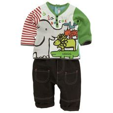 47148d126b Catimini - Printed T-shirt and chocolate trousers - 29745