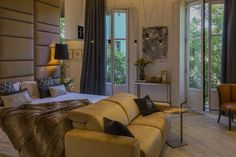 CASA DECOR 2016 - SUITE FAMILIAR CRISTINA REMÍREZ DE GANUZA Y JEROME LE FOUILLÉ Casa Decor 2016, Couch, Bed, Furniture, Home Decor, Architecture, Interiors, Decoration Home, Room Decor