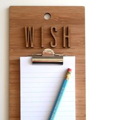 Make My Wishes Come True Clipboard by Decoy Lab, Kansas City