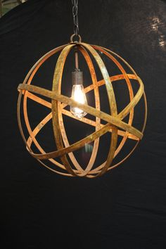 Awesome Large Metal Straps In Spherical Orbit Shape Form These