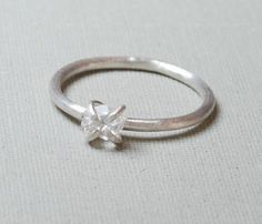 Handmade Herkimer Diamond and Sterling Silver Ring