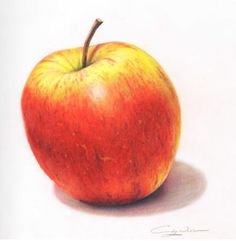 how to draw an apple 3d