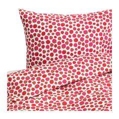 SOMMAR 2015 Funda nórd y 2 fundas almohada - motivoframbues/rosa, 240x220/50x60 cm - IKEA