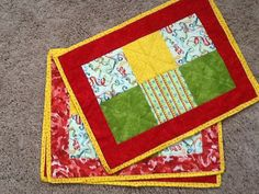 Handmade placemats made to order by BusyNeedlesbyJ on Etsy, $30.00