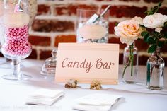 Candy bar - Wedding reception details - Benicia, CA