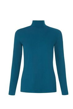 May Turtle Neck Top in Teal