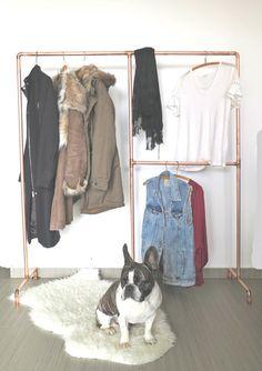 Two-sided Copper Garment Rack = Coats + Garments