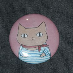 Nautical cat button