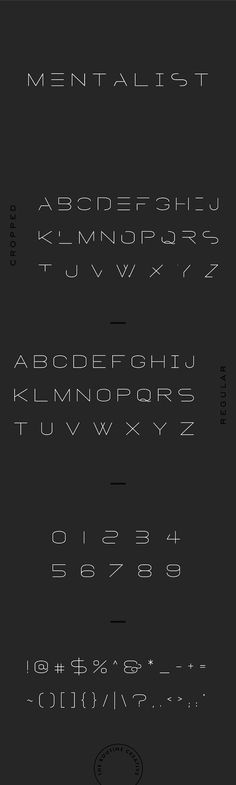 MENTALIST - FUTURISTIC DISPLAY FONT by The Routine Creative on @creativemarket