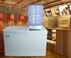 20kg commercial ice making machine water dispenser household commercial ice making machine ktv