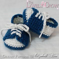 Baby Shoes Crochet Pattern for LITTLE SPORT por TheLovelyCrow