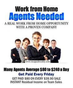 LEARN HOW TO GET PAID WORKING FROM HOME. Get paid $25-$75 per e-mail. With a FREE website FREE training. No cost to you. You have nothing to loss. http://www.smalllinks.com/19HY