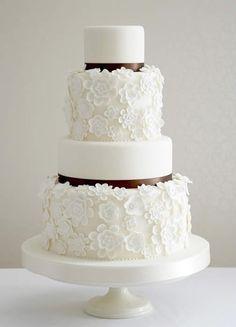 Beautiful Lace Wedding Cake