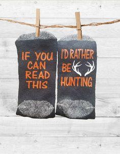 Socks hunting hunterNovelty Word Socks if you can read