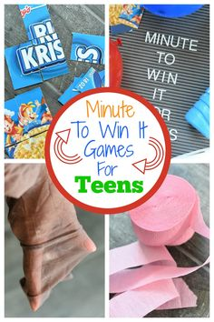 Super Fun Minute to Win it Games for Teens - Super Fun Minute to Win it Games for Teens Minute to Win it Games for Teens. Fun party games for teens for your next party! Teen Girl Games, Tween Games, Teen Fun, Party Games For Girls, Girl Parties, 13th Birthday Parties, Birthday Party For Teens, Birthday Party Games, 12th Birthday