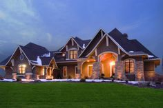 Love this one! Craftsman 5 Beds 4 Baths 3651 Sq/Ft Plan #56-592 Front Elevation - Houseplans.com