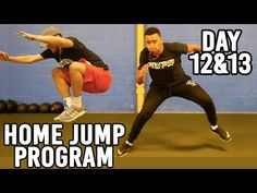 FREE 2-Week Home Jump Program | Day 9&10 - YouTube Softball Workouts, Volleyball Tips, Coaching Volleyball, Basketball Plays, Basketball Drills, Jump Workout, Vertical Jump Training, Parkour, Calisthenics