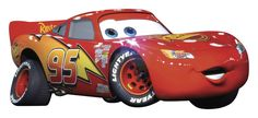 Bring the action of Disney Pixar's Cars to any wall with this giant wall decal of Lightning McQueen. Measuring over three feet in length, this decal is sure to make a statement in your son or daughter's bedroom! And since Lightning is completely removable and repositionable, you can move him to a new location at any time. Be sure to check out all our other Cars products for even more fun!