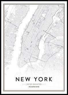 Stylish poster, New York.