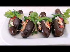 Μελιτζάνες τουρσί/Pickled eggplants.Maria's Greek Food. - YouTube Eggplants, Greek Recipes, Pickles, Vegetables, Youtube, Food, Essen, Greek Food Recipes, Vegetable Recipes