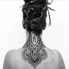 Amazing nape tattoo! #MarkNara