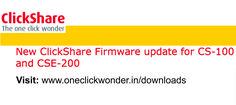 ClickShare CS-100 & CSE-200 base unit firmware(New) - v01.03.00.29 Available:
