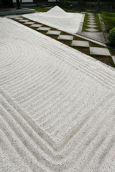 The sand garden Kyoto, Japan
