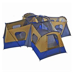 This Large Camping Tent 14 Person family& Cabin Tent is a huge base camp straight wall tent. Large Camping Tent It includes a room divider to make separate living and sleeping spaces and the center height leaves a lot of room to move around. Camping Ideas, Camping Bedarf, Camping Shelters, Best Tents For Camping, Cool Tents, Camping Places, Family Camping, Outdoor Camping, Outdoor Gear