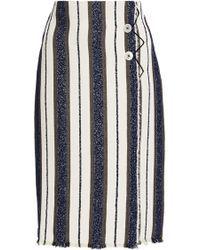 Edun | Marine Stripe Wrap Skirt | Lyst