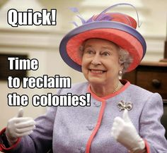 Queen Elizabeth reacts to the U.S. government shutdown