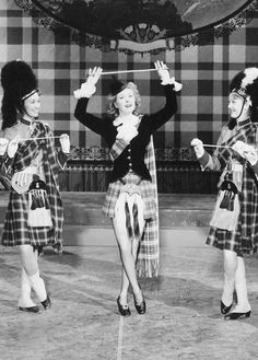 """Greer Garson in """"Random Harvest"""" dancing and singing the great Harry L_______ song """"Waitin'm for My Dearie."""" She started out singing and dancing on the stage."""