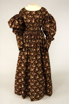 Tasha Tudor collection. Floral Roller Printed Cotton Dress, 1825-1835 - Lot 62 $4,600