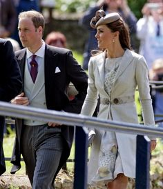 June 9th, 2012 - William and Catherine arrive at the wedding of Emily McCorquodale and James Hutt, the bride is the eldest daughter of Lady Sarah McCorquodale, Princess Diana's sister, making her William and Harry's first cousin.