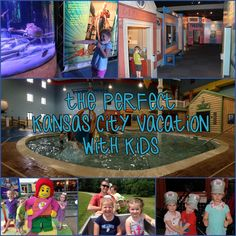 THE PERFECT KANSAS CITY VACATION WITH KIDS:  Where to stay and what to do!  Legoland, Kidscape, Fritz's Restaurant, T-Rex Cafe, Aquarium, KC Northern Railroad and more!