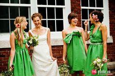 bridesmaid dresses green