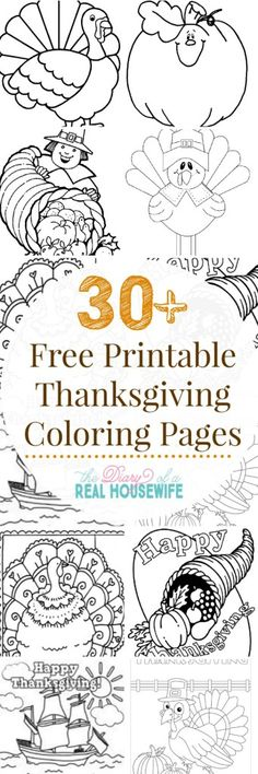 Easy thanksgiving fun printable coloring pages for thanksgiving