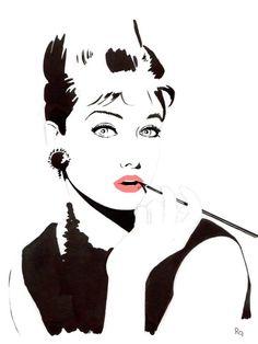 Audrey Hepburn Audrey Hepburn, Comic Art, Pop Art, Snow White, Disney Characters, Fictional Characters, Portraits, Comics, Disney Princess