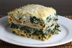 Pastitsio with Greens (instead of meat) Not so much a quick'n easy recipe...but looks delicious!! Love me some greek!