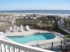 Isle of Palms Vacation Rental - VRBO 228674 - 3 BR Isle of Palms Condo in SC, Oceanfront Condo 3 Bedrooms with 3 Bathrooms - 2 Parking Space...