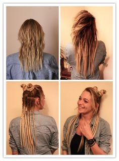 J'aime beaucoup expérimenter avec les #dreads. Tous les jours différents #chignons, une idée c'est de les tourner comme des oreilles d'un Anny partage la même idée, elle débute l'aventure des dreads et elle est ravie.