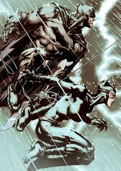 Couples that fight together..- Catwoman and Batman