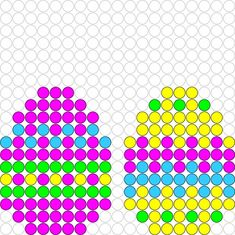 Easter eggs perler bead pattern Easter eggs perler bead pattern – Famous Last Words Quilting Beads Patterns Melty Bead Patterns, Pearler Bead Patterns, Perler Patterns, Beading Patterns, Quilt Patterns, Perler Bead Designs, Perler Bead Art, Pony Bead Projects, Van Lego